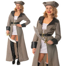 Adult Pirate Fancy Dress Costume Ladies Buccaneer Caribbean Womens Fancy Dress
