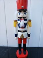 "Kurt Adler Kurt S. Adler 15""  Nutcracker Drumme White Red Christmas Decor"