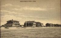 Grove Beach Point CT Homes Postcard