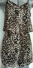 Miss Selfridge leopard print romper playsuit size 10 MINT CONDITION