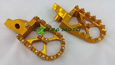 Pedane maggiorate motocross SUZUKI RMZ250 RMZ450 RMZ 250 450 RM Z ORO alluminio