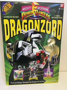 Bandai Power Rangers Deluxe Dragonzord Action Figure 1993 w box, no Green Ranger