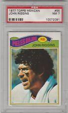 1977 TOPPS MEXICAN #55 JOHN RIGGINS REDSKINS HOF  PSA 7