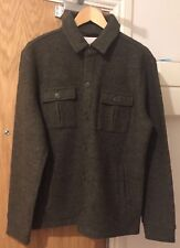 Hardy Aimes 100% Wool Shirt Button Jacket Size Large RRP£395