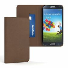 Tasche für Samsung Galaxy S4 Vintage Cover Handy Schutz hülle Case braun