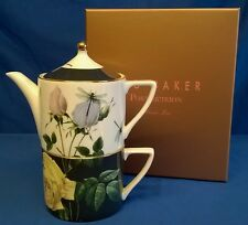 PORTMEIRION TED BAKER ROSIE LEE BONE CHINA TEA FOR ONE TEAPOT CUP ROSE DRAGONFLY