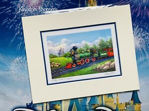 """Disney Parks Lilly Belle #2 Train Engine By Larry Dotson Print 8"""" x 10"""""""
