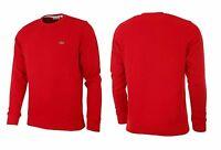 New Lacoste Men's SH6619 Pullover Fleeces Crew Neck Sweatshirt Sweater Red