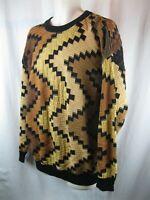 TUNDRA Canada Men's Multicolor Heavy Textured  Coogi Style Sweater L