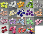 10/50/100pcs Satin Ribbon Rose Flower DIY Craft Wedding Appliques Lots U PICK .!