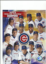 2003 CHICAGO CUBS 8X10 PICTURE MLB
