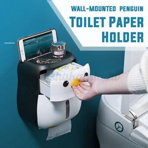 Toilet Paper Holder Box Penguin Wash Basin Waterproof Tissue Box Store Holder