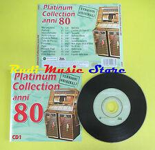 CD PLATINUM COLLECTION ANNI 80 1 compilation 1999 PUPO FOGLI (C1**) no lp mc dvd