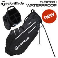 TaylorMade FlexTech Waterproof Golf Stand Bag Black/White - NEW! 2021