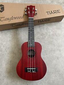 Acoustic Soprano Ukulele Mahogany Red Satin  Great Quality £69  with arched back