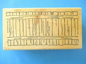 FENCE Rubber Stamp ART IMPRESSIONS Use with FRONT & BACK IMAGES
