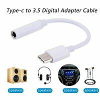 USB-C Type-C zu 3,5 mm AUX Klinke Adapter Kopfhörer Buchse Kabel weiß Huawei