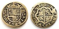 Spain-Felipe IV. 1 real 1627. Ingenio de Segovia. Plata 3,1 g. Escasa