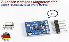 3-Achse Kompass Magnetometer Sensor HMC5883 HMC5883L für Arduino Raspberry Pi