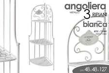 ANGOLIERA JARD H127*48*33 BIANCA ENTRATINA SCAFFALE INGRESSO METALLO RTE 725401