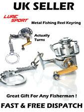 Fishing Reel Keyring Fishing Metal Spinning Fishing Gift Miniature Fisherman