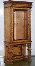 Impresionante Victoriano Nogal vitrina de mesa pequeña superior hallazgo raro debe ver foto