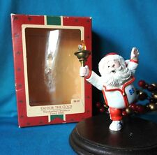 HALLMARK  Ornament 1988 Go For The Gold Olympic Santa with a Golden Torch