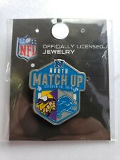 MINNESOTA VIKINGS vs DETROIT LIONS GAME DAY PIN 10/20/19 NFC NORTH MATCH UP PIN