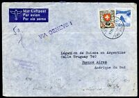 SWITZERLAND TO ARGENTINA Air Mail Cover 1939, VERY NICE!