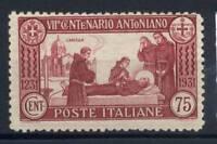Italia Regno 1931 Sass. 299 Nuovo ** 100% S. Antonio 75 c.