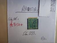 RHODESIA STAMP S.G. 283 ½d F.U.