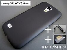 Funda Carcasa Negra Semitransparente para Samsung Galaxy S4 mini (i9195)