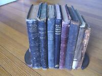 Antique School Book Arithmetic/Grammar Reader LOT of (8) Books 1841 up to 1889