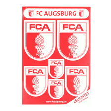 2x FC Augsburg Aufkleber Sticker Logo Papier TOPPS Glitzer