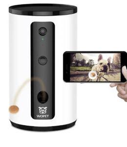 Wopet Intelligent Dog Camera With Treat Dispenser Model DO1 White New