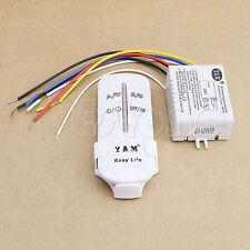 3 Ways ON/OFF 220V Wireless Digital Lamp Light RF Remote Control Switch