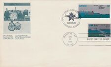 Canada / Usa 1984 Double First Day Cover St Lawrence Seaway 25Th Anniv Freighter