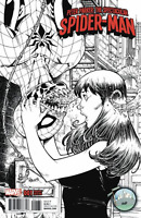 PETER PARKER SPECTACULAR SPIDER-MAN #1 TODD NAUCK NYCC B&W VARIANT MARY JANE