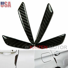 Black Real Carbon Fiber Exact Car Side Door Edge Protection Guards Trim Sticker