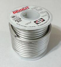 """Lead Free Solder Harris BRIDGIT Nickel Bearing .125"""" Diameter BRGT61 NEW 1lb"""