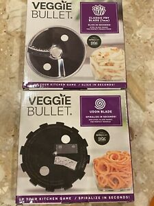 Veggie Bullet Udon Spiralizer Blade (5mm) & Classic Fry Blade (7mm)