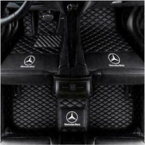 For Mercedes-Benz 2003-2021 Luxury Waterproof Front & Rear Liner Car Floor Mats