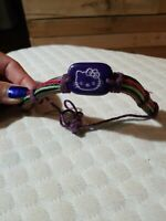 Hello Kitty Handmade Adjustable Bracelet With Leather Band And Thick Colored...
