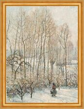 Morning sunlight on the snow, Eragny-sur-Epte Camille pissarro hiver B a3 00932