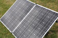 Folding Solar Panel 12-24v 180 Watt with carry bag 3m lead - Copperhead Brand