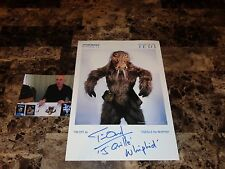 Star Wars Rare Return Of The Jedi Tim Dry Signed J'Quille The Whiphid Photo COA