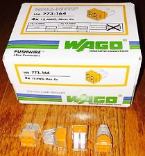 50 pcs of Wago PushWire Connector 773-164  (4 Pole Wall-Nuts)  FREE Shipping