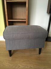 IKEA Strandmon dark grey fabric footstool