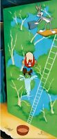 """High Diving Sam"" Bugs Bunny + Yosemite Sam Limited Edition Animation Art Cel"