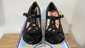 Irregular Choice - Nicely Done - Black Sequin Heels - EU36 UK3.5 - 4255-051